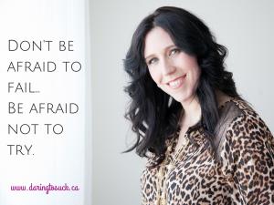 Don't be afraid to fail postcard