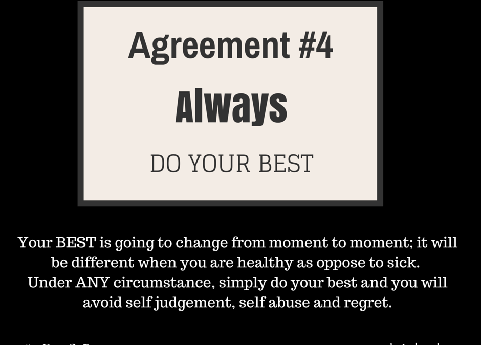 The Four Agreements #4: Always Do Your Best, End of Story. Literally. (Day 16) #25DaysOfPresence