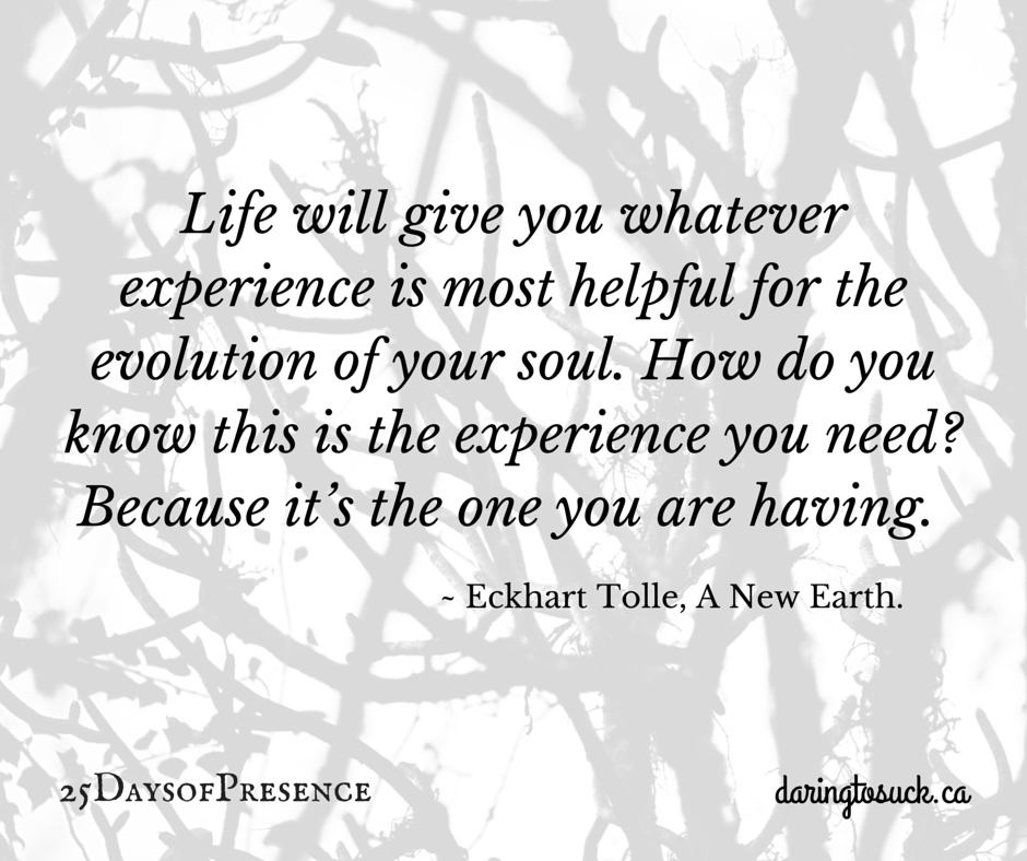 Life will give you whatever experience